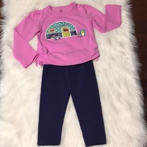 J. Khaki/Jumping Beans Purple/Navy Outfit Size 4T